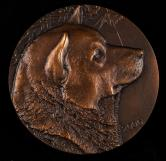 2006年上海造币厂铸狗年生肖大铜章一枚(直径:80mm、带盒、带说明书)