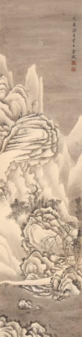 金城 雪景山水
