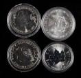 赵涌在线_钱币类_2014年加拿大枫叶、英国不列颠女神、英国生肖、美国鹰洋1盎司银币各一枚