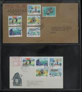 [1]1978年贴T24气象一套北京首日印刷品航空寄德国柏林封一件、加贴特62(8-7)一枚、销4月25日北京戳[2]T24气象总公司首日封北京印刷品航空寄德国一套、销4月25日北京戳