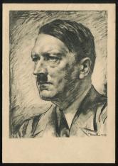 贴德国名人一枚明信片实寄一件