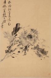 李坤(央美硕士)墨牡丹
