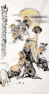 李傅宇(当代书画名人)酒中二仙