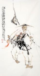 李傅宇(当代书画名人)闲逸图