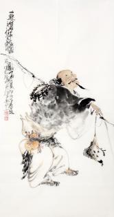 李傅宇(当代书画名人)连年有余图