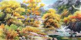 朱贤(一级画家)山村的秋天
