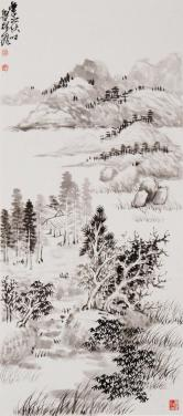 鲁振飞(敦煌艺术研究委员会)山水