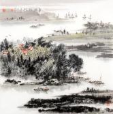 杨亮 平湖帆影
