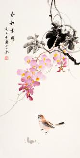 熊凤全(北京书画名家)春和景明