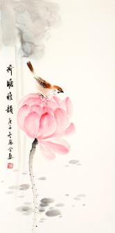 熊凤全(北京书画名家)荷塘雅韻