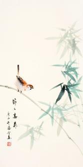 熊凤全(北京书画名家)节节高升