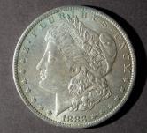 1883年美国摩根26.73克银币一枚