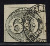 巴西1843年牛眼邮票旧一枚