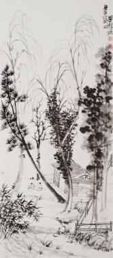 鲁振飞(中国美术家协会敦煌艺术研究委员会)山水