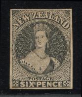 新西兰早期邮票雕刻版试印样新一枚
