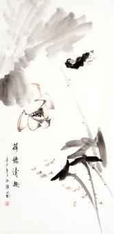 泓颖(国家一级美术师)荷塘清趣