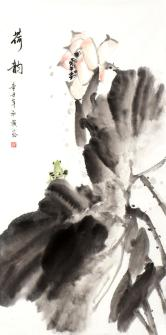 泓颖(国家一级美术师)荷韵