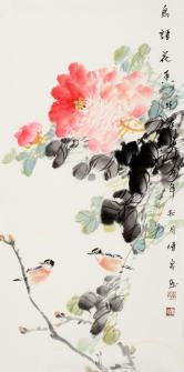 韦传泉(广西柳州油画院)鸟语花香