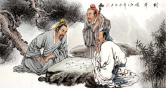 张松平(一级美术师)对弈图