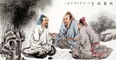 张松平(一级美术师)竹荫对弈