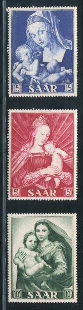 早期萨尔雕刻版邮票新三全(大型票)