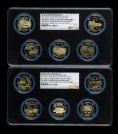 2002年-2006年世界文化遗产精制流通纪念币十枚一套(带册、部分带证书、NGC PF69)