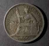 1900年法属印度支那坐洋27克银币一枚