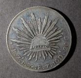 1889年墨西哥27.07克银币一枚