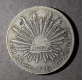 1894年墨西哥27.07克银币一枚
