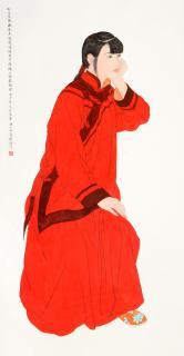 李建(教师)等合作 红衣女孩