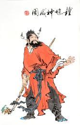 连昌武(实力派书画家)钟馗神威图小品