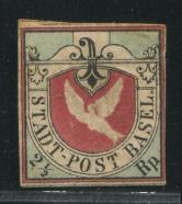 瑞士早期邮票旧一枚