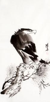 张华(安徽美协)松鹰图