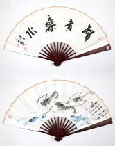 祝家锋(中国书协)墨虾成扇