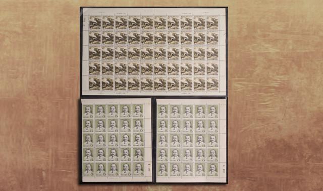 邮票类_纪87詹天佑新50套(部分带边、直角边、厂铭、数字边)