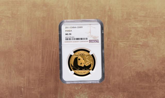 钱币类_2011年熊猫1盎司普制金币一枚(NGC MS70)