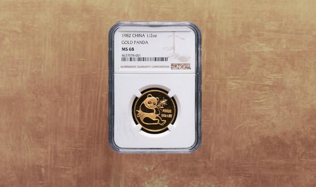 钱币类_1982年熊猫1/2盎司普制金币一枚(NGC MS68)