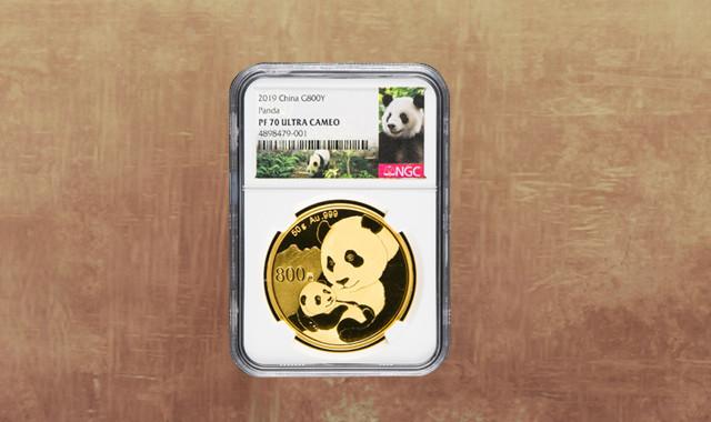 钱币类_2019年熊猫50克精制金币一枚(原盒、带证书、NGC PF70)