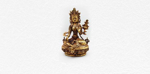 当代艺术_旧藏铜制佛像摆件一件