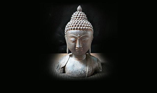 當代藝術_舊藏老鐵器釋迦牟尼佛像擺件