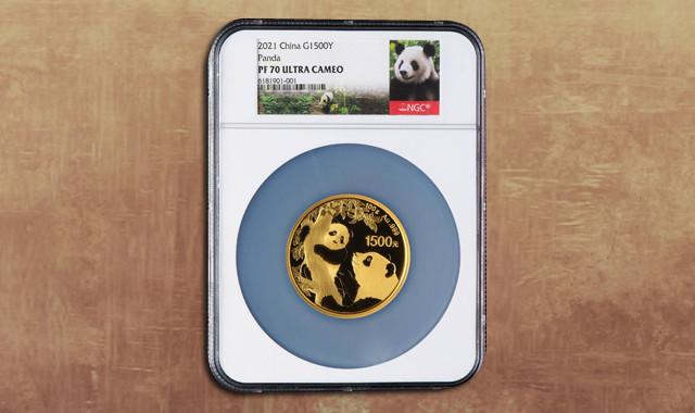 钱币类_2021年熊猫100克精制金币一枚(原盒、带证书、NGC PF70)