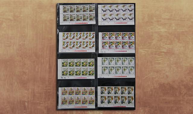 邮票类_T43西游记带红色标直角边10连新全(部分带数字)