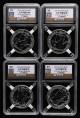 赵涌在线_钱币类_2015年英国大不列颠女神1盎司银币四枚(首发版、源泰评级 99)