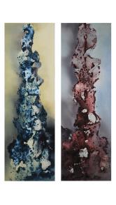 黄琦胜(1991-) 《消失的景态Passing scenery(一组2件)》